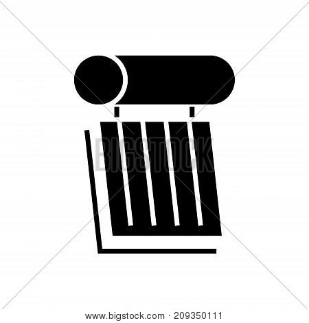 solar battery 2 icon, illustration, vector sign on isolated background