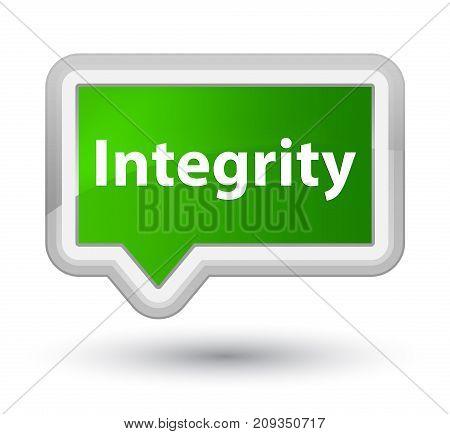 Integrity Prime Green Banner Button