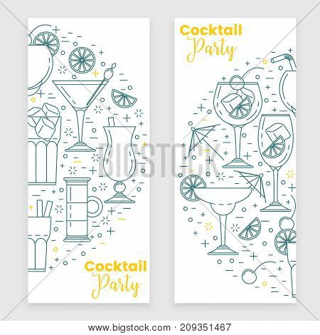 Cocktail Banner With Martini