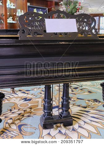 Grand piano close up
