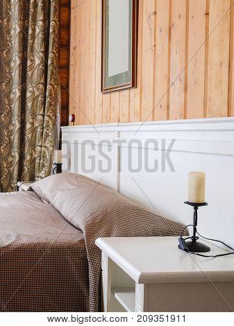 Interior of a hotel bedroom