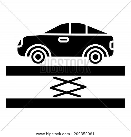 suspension - car service icon, illustration, vector sign on isolated background