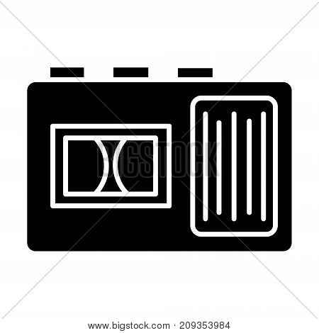 tape recorder icon, illustration, vector sign on isolated background