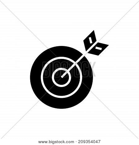 target arrow icon, illustration, vector sign on isolated background