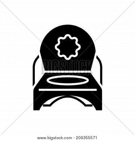 toilet potty icon, illustration, vector sign on isolated background