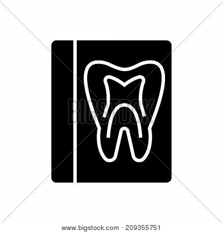 tooth record - medical dentist report icon, illustration, vector sign on isolated background