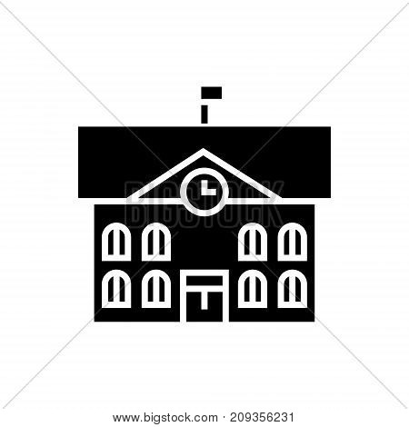town hall - city hall icon, illustration, vector sign on isolated background