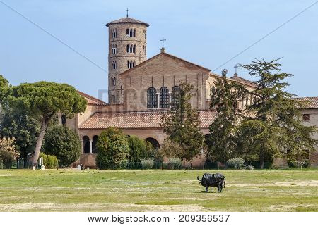 The Basilica of Sant' Apollinare in Classe is an important monument of Byzantine art near Ravenna Italy.