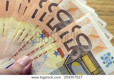 Fifty Euro Bank Notes