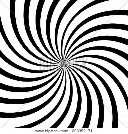 Sun rays retro background vector illustration black