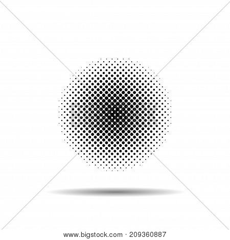 Abstract halftone effect vector background white background