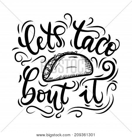tacos lettering poster flourishes vector photo bigstock rh bigstockphoto com vector flourishes free download vector flourishes and ornaments free