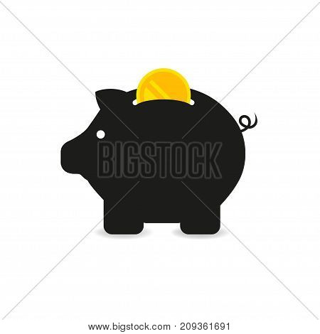 Finance and money icon set. Piggy bank icon vector illustration eps10