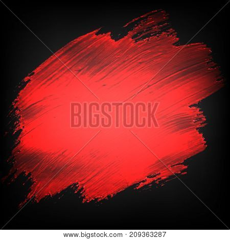 Black Banner With Red Blobs