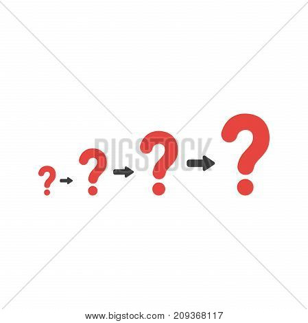 Flat Design Style Vector Concept Of Growing Problems With Question Marks