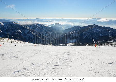 The skiers are on in Jasna Low Tatras Jasna Slovakia