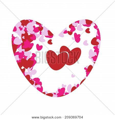 Beautiful heart for Valentine's day. On a white background. Vector
