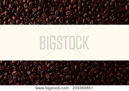 Coffee Beans With Creative Rectangle Element For Graphical Uses.