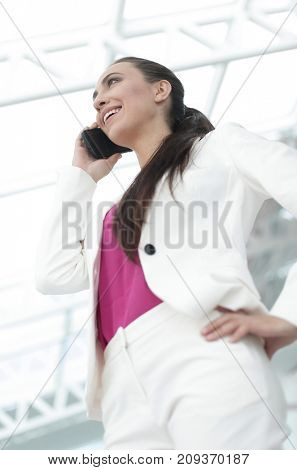 stylish business lady talking on the phone