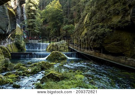 Canyon River Canyon In The Forest Of The Czech Republic