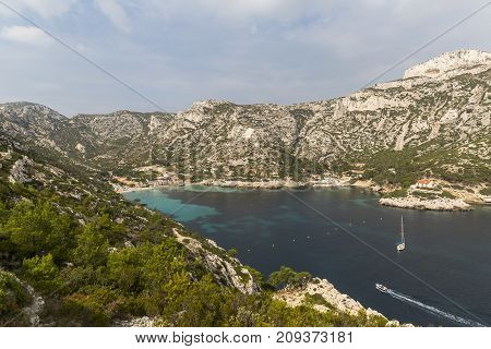 Paradise beach in the Calanques National Park on the southern coast of France