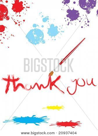 abstract white background with colorful grunge and paint brush