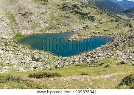 Amazing Landscape of Argirovo lake near Dzhano peak, Pirin Mountain, Bulgaria