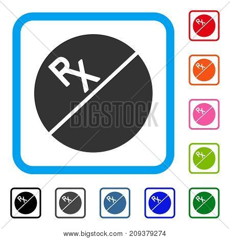 Tablet icon. Flat gray iconic symbol inside a light blue rounded rectangle. Black, gray, green, blue, red, orange color additional versions of Tablet vector. Designed for web and app user interface.