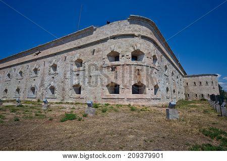 Old damaged by war Michael's fort in Sevastopol, Crimea