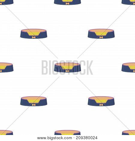 Lounger for a pet, a sleeping place. Care of a pet single icon in cartoon style vector symbol stock illustration .