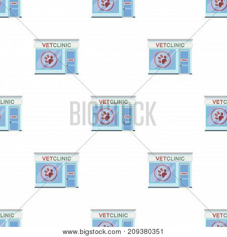 Office of the veterinary clinic. Pet care single icon in cartoon style vector symbol stock illustration .