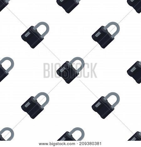 Door lock. Code lock single icon in cartoon style vector symbol stock illustration .