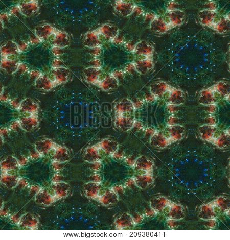Abstract cosmic background.Seamless colorful pattern. Elements of this Image Furnished by NASA.
