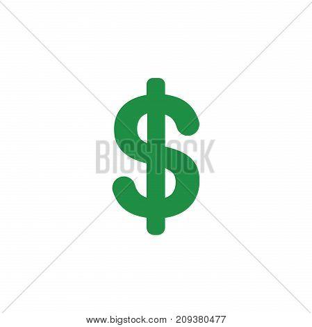 Flat Design Style Vector Of Dollar