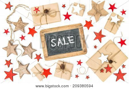 Gifts christmas decoration and chalkboard with sample text Sale