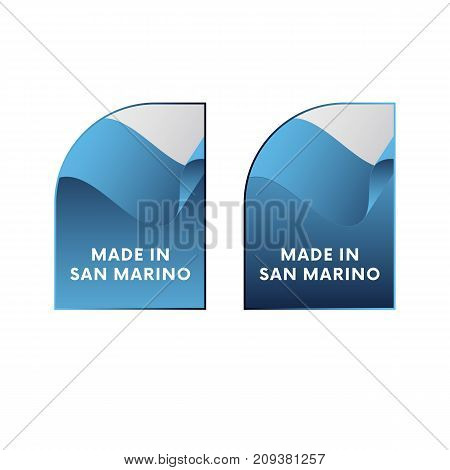 Stickers Made in San Marino. Vector illustration.