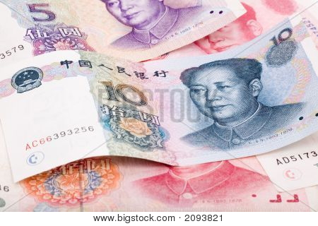 Chinese money RMB close up shot for background poster