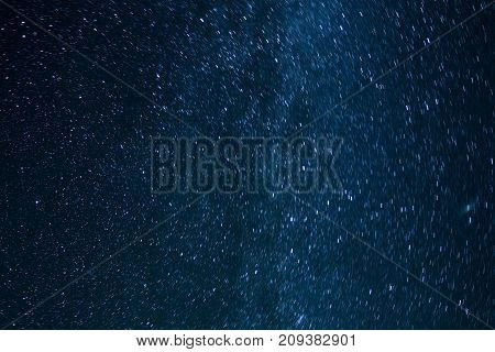 the starry sky above the head Milky Way