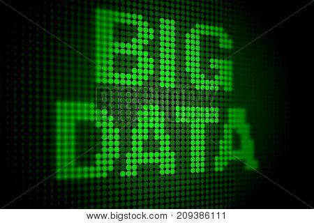 Big data modern computing concept