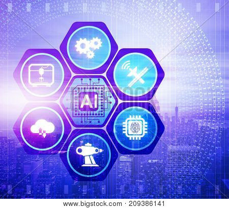 Artificial intelligence modern computing concept