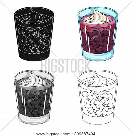 Glass, single icon in cartoon style.Glass, vector symbol stock illustration .