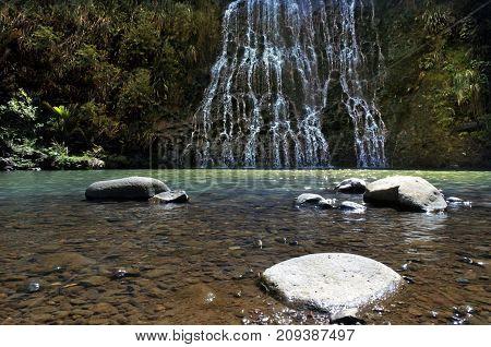 Low Angle Of Karekare Falls