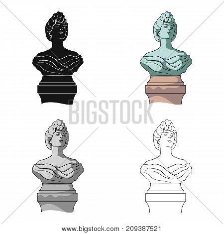 Monument, single icon in cartoon style.Monument vector symbol stock illustration .