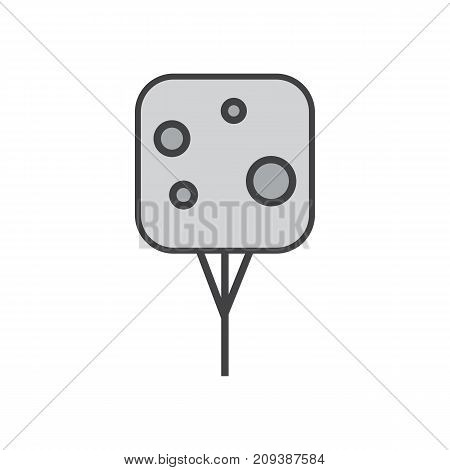vector illustration of line Tree. Forest creative icon.