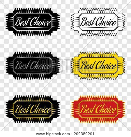 Best choice ribbon with inscription of best choice design element