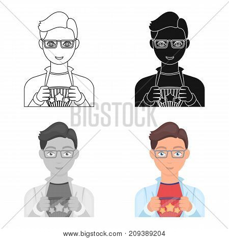 Superman single icon in cartoon style. Superman vector symbol stock illustration .