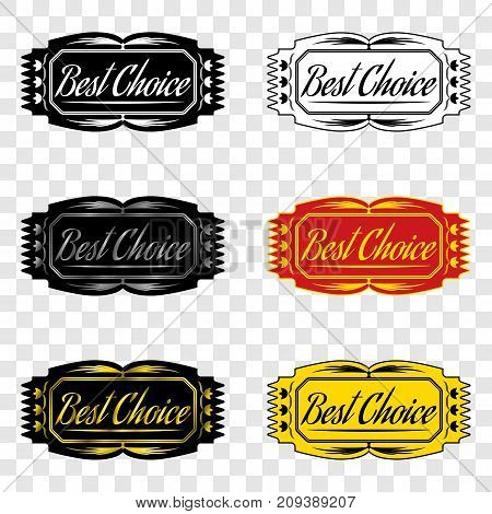 Best choice badge with inscription of best choice design element