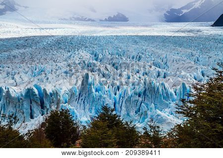 The spectacular glacier Perito Moreno, located in the national park of Los Glaciares in the Argentine part of Patagonia.  The concept of exotic and extreme tourism