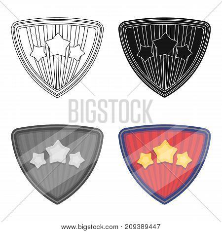 Shield, single icon in cartoon style.Shield, vector symbol stock illustration .