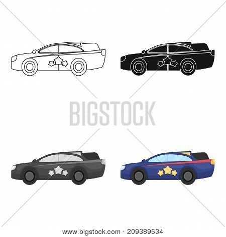 Car, single icon in cartoon style.Car, vector symbol stock illustration .